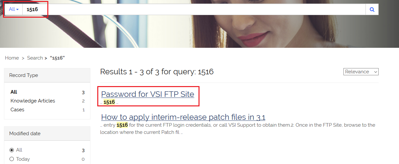 VSI Knowledge Base for FTP Site